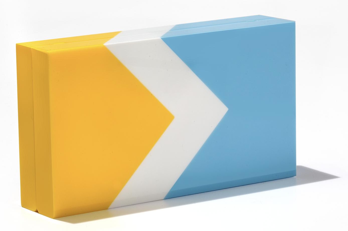 Surf Minaudiere - Blue White Yellow
